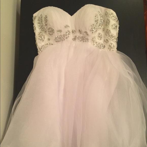 Grace Karin Dresses Princess Style White Strapless Prom Dress